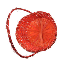 13'' x 18'' Red grape basket with large handle