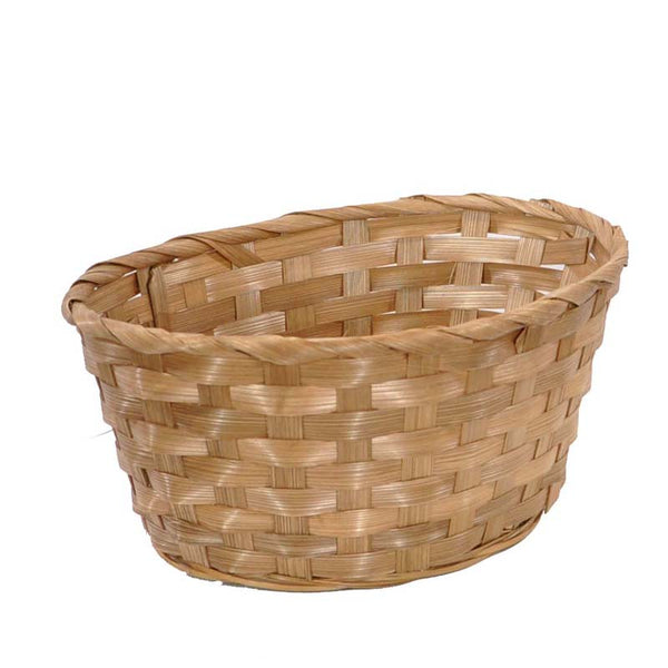 10''x 8'' Oval-brown bamboo basket