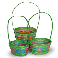 Oval baskets, Green Color - S,M,L