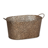 13''x 7.5'' Oval Hammered Metal Basket
