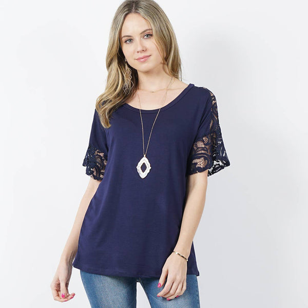 42pops - Lace contrast tunic