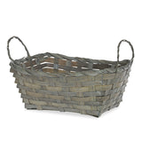 8.5''x 7'' Bamboo-Gray Braided Basket