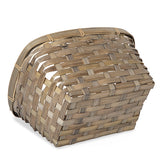 11''x 9'' Wooden Gray Braided Basket