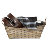 12''x 8'' Bamboo- Gray Braided Basket