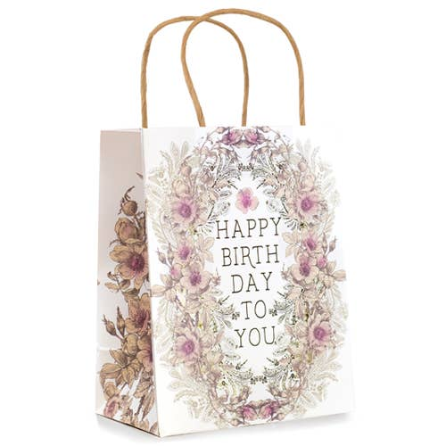 "10"" x 7.75"" Gift Bag- Happy Birth Day To You"
