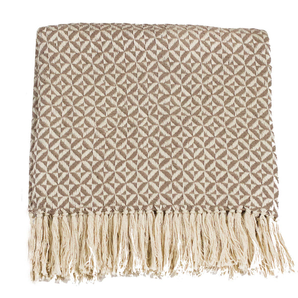 Tajik  Home  LLC - Pinwheel Two Tone Cotton Throw