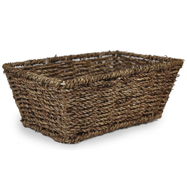 10''x 7'' Seaweed basket, dark shading - small