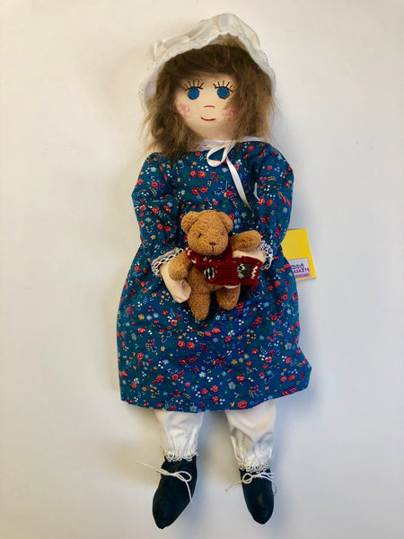 19'' Doll- With Teddy Bear