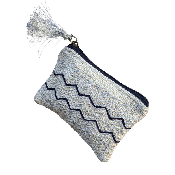 Chloe & Lex - Black White Zig Zag Coin Purse