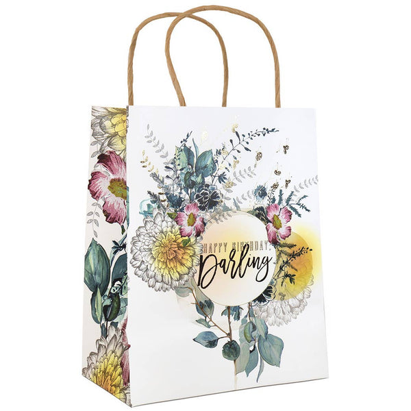 "10"" x 7.75"" Gift Bag - Happy Birthday Darling"