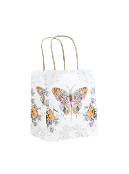 Mini Gift Bag - Paisley Butterfly