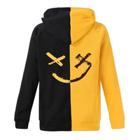 2019 new fashion men's autumn and winter teen smile fashion hoodie print smiley jacket casual pullover jacket #0624