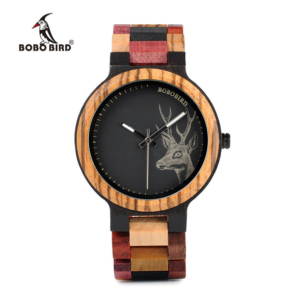BOBO BIRD P14-2 Deer Collection Wood Watches