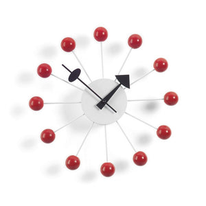 Wall Clocks - Ball Clock rosso