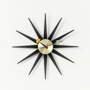 Wall Clocks - Sunburst Clock nero/ottone