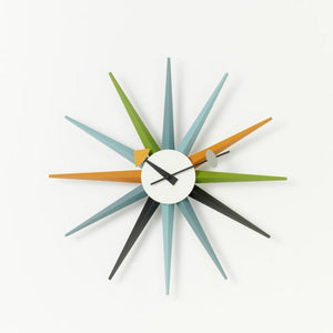 Wall Clocks - Sunburst Clock multicolore