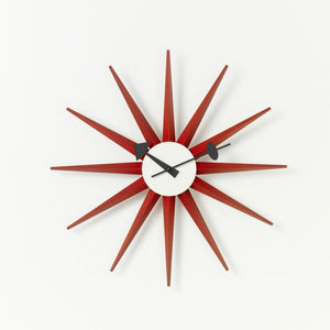 Wall Clocks - Sunburst Clock rosso