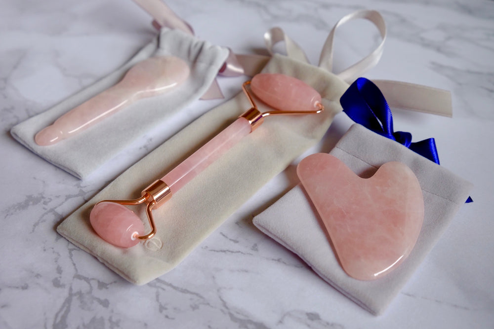 Rose quartz discovery kit Zenkle singapore beauty tools gua sha massage tool guasha sg facial roller skin-care skincare skin care accessory gift set gifts