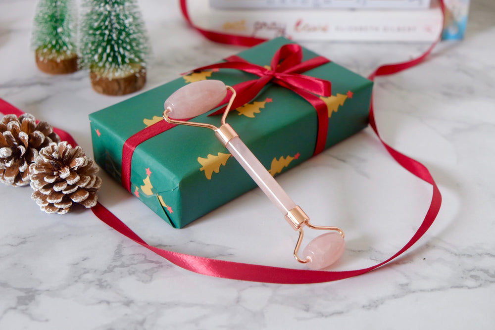 [Christmas] Rose Quartz Facial Massage Roller
