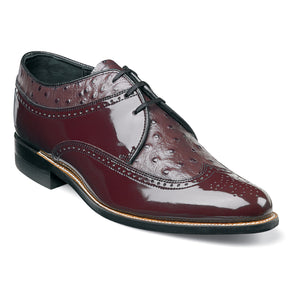 Dayton Ostrich Wingtip Oxford (Available in Black or Burgundy)