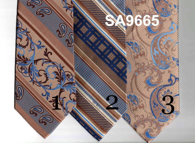 Blue and Brown Ties