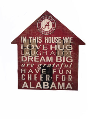Alabama Crimson Tide In This House Sign