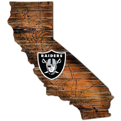 Las Vegas Raiders Distressed Sign with Logo