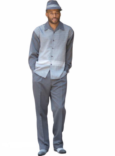 Gray Fade Leisure Suit