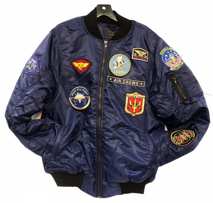 Bomber Jacket with Aviation Patches