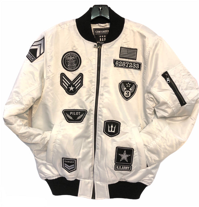 Bomber Jacket with Patches