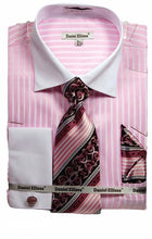 Load image into Gallery viewer, Striped French Cuff Dress Shirt (Includes Tie and Hanky)