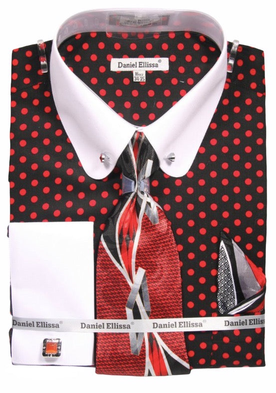 French Cuff Dress Shirt (Comes with Tie, Hanky, and Cufflinks)