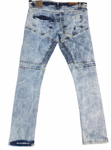 Ice Blue Slim Fit Riding Jeans