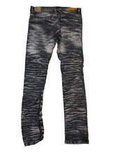 Load image into Gallery viewer, Distressed Slim Fit Black Jeans