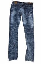 Load image into Gallery viewer, Distressed Slim Fit Ice Blue Jeans