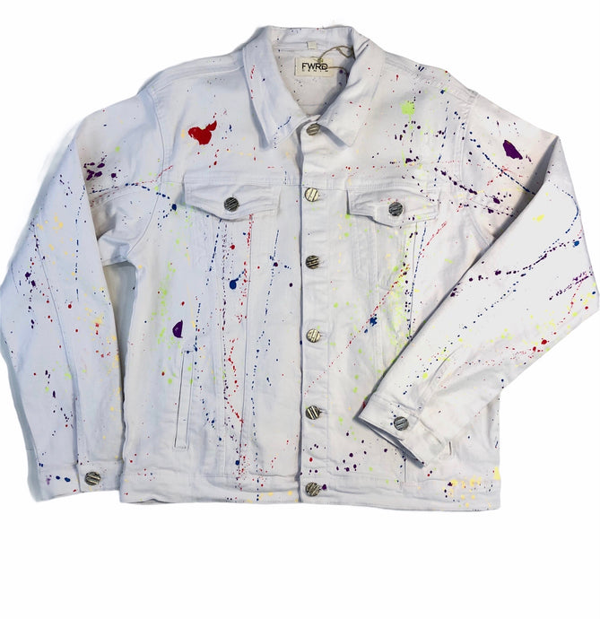 Paint Splattered Jean Jacket