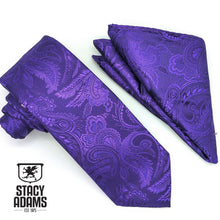 Load image into Gallery viewer, Paisley Tie and Hanky Set