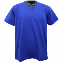 Load image into Gallery viewer, Plain V Neck Tee Shirt