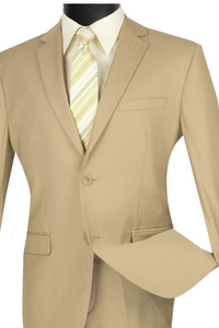 Vinci Ultra Slim Single Breasted Suit (Available in Multiple Colors)