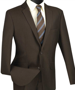 Vinci Single Breasted Two Button Slim Fit Suit