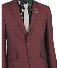 Load image into Gallery viewer, Vinci Single Breasted Two Button Slim Fit Suit