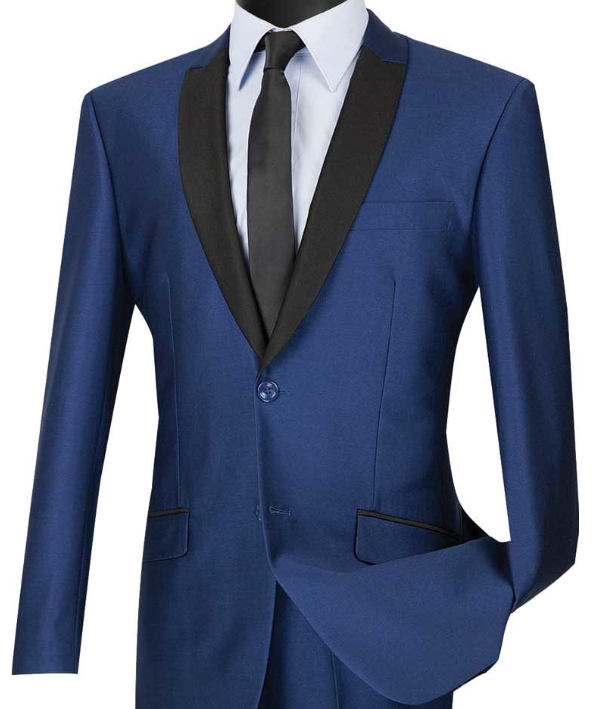Vinci Slim Fit Sharkskin Suit (Available in Multiple Colors)