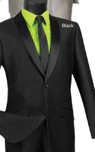 Load image into Gallery viewer, Vinci Slim Fit Sharkskin Suit (Available in Multiple Colors)
