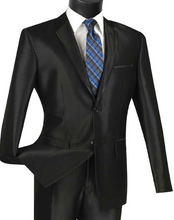 Load image into Gallery viewer, Vinci Slim Fit Sharkskin Notch Lapel Suit (Available in Multiple Colors)