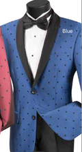 Load image into Gallery viewer, Vinci Slim Fit Polka Dot Suit