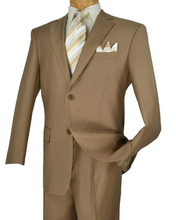 Load image into Gallery viewer, Executive Two Piece Suit in (Available in Khaki or Gray)