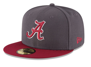 New Era 59 FIFTY Alabama Gray and Crimson Fitted Cap