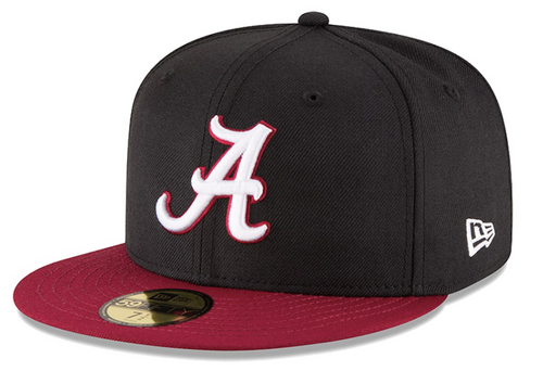 New Era 59 FIFTY Alabama Black and Crimson Fitted Cap