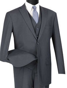 Vinci Classic Three Piece Suit in Navy or Olive