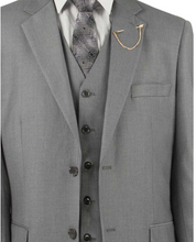 Load image into Gallery viewer, Vinci Classic Three Piece Suit in Medium Gray or Maroon